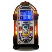 Rock-Ola Bubbler Harley-Davidson Digital Music Center Jukebox - Roestvij Staal