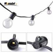 Moesdal Holiday decoratio 25Ft 7.6M G40 Bulb Globe String Lights with Clear Bulb Patio Lights Vintage Bulbs Decorative Outdoor