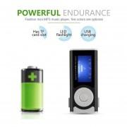 EY MX-803 Digital Reproductor De MP3 Con Pantalla LCD Clip & Luz LED Super Bass Estéreo-Negro