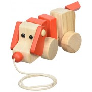 A B Gee 38194 Wooden Dog Pull Along Toy