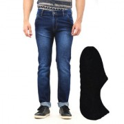 Van Galis Fashion Wear Blue Jeans And Stylish Boot Socks For Men
