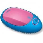Електрическа четка за коса, Beurer HT 10, йонизираща функция, Синя/Розова