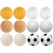 Exkluzív asztalifoci labdák - 12 db, különböző anyagból, 35 mm