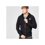 Tru-fit hoodie met rits - XS - Zwart