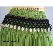 Alibaba Accessory Shells or Bells, Hand woven Hippy Boho Tie Side Belt