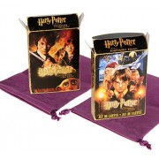 Harry Potter Playing Cards _ Bundle of 2 Unique Themed Collector s Decks _ Chamber of Secrets & Sorcerer s Stone _ Bonus Two Purple Velveteen Drawstring Storage Pouches _Bundled Items by Deluxe Games and Puzzles