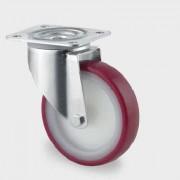 Roata pivotanta din poliamida 100 mm - 150 kg TENTE 3470UAR100P62 red