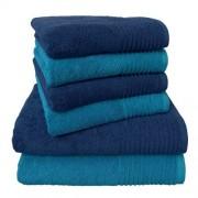 Dyckhoff 6-tlg. Handtuch-Set Brillant Dyckhoff Farbe: Blau/Türkis