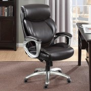 True Wellness Brown Managers Executive Chair With Lumbar Support 48297