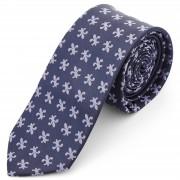 Tailor Toki Marineblaue Fleur De Lis Polyester Krawatte