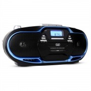 Trevi CMP-574 Reproductor de música CD MP3 USB, casetes, radio FM/AM, azul (#0057404)