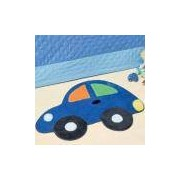 Tapete Infantil Formato Fusca Azul Royal 73x95cm - Guga Tapetes