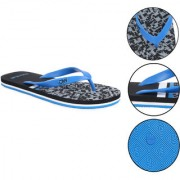 Daily Walk Black And Aqua Men's Flip-Flops And Regular Walking House Slippers