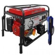 Pachet generator electric Profesional Media-Line MLG 6500 E1 6.5 kVA monofazat AVR + Lanterna LED magnetica AgroPro