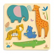 Djeco - Reliefpuzzle - Woodyjungle