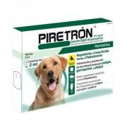 DIPTRÓN-PIRETRÓN Piretron 3 Pipetas Antipulgas, Garrapatas Y Mosquito Para Perros Perro Grande +15kg