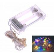 LED světelný řetěz drát 2 m 20 LED barevné