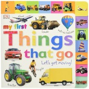 Tabbed Board Books: My First Things That Go: Let's Get Moving!, Hardcover