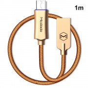 MCDODO 1M Knight Seires Micro USB Data Sync Charging Cable for Samsung Huawei - Gold