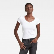 G-star RAW Femmes Basic V-Neck Cap Sleeve T-Shirt Blanc