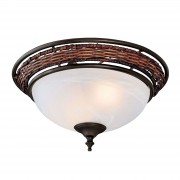 Hunter Wicker Bowl light for ceiling fan