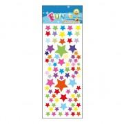 Merkloos Stickervel gekleurde sterren