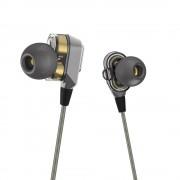100% Originele VJJB V1 V1S hifi in-ear metal koptelefoon Super Bass oordopjesDubbele Cirkel Subwoofer Monitor headset