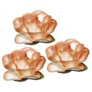 Rayher hobby materialen Oranje hobby bloemen van papier 1,5 cm