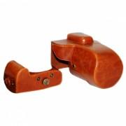 Ismartdigi PU cuero bolsa de la camara para Nikon D5500 DSLR - Marron