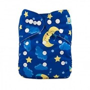 Tinytots Bamboo All In One Reusable Washable One Size Cloth Diaper -Stars