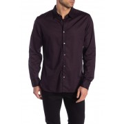John Varvatos Star USA Diamond Print Sport Shirt RED CLAY