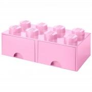 Lego Storage 8 Knob Brick - 2 Drawers (Light Pink)