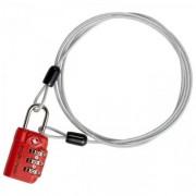 Eagle creek TSA Zahlenschloss 3 Dial Cable Lock Flame Orange