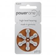 Set baterii Varta P312 pentru aparate auditive, 6 bucati