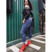 Patent Leather Pointed Boots