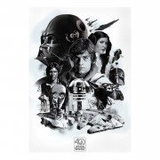 Afbeelding Star Wars black and white