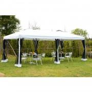 Outsunny Luxus 3 x 6m Faltpavillon Faltzelt mit Transporttasche