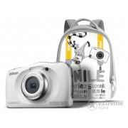 Aparat foto Nikon Coolpix W100, white + rucsac