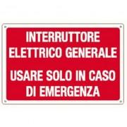 L.S.C. Isolanti Elettrici Cartello Interruttore Elettrico Generale 300x200 In Alluminio