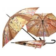 H.C.021-6506 Esernyő 100cm,Klimt:The Family,barna
