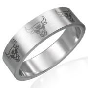Inel inox barbatesc Taurus Zodiac Sign B551