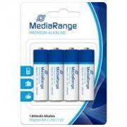 Алкални батерии на MediaRange Premium, Mignon AA LR6 1.5V, Pack 4 - MRBAT104