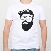 Bearded Man t-shirt Cap Man White T-Shirt - Bearded Man