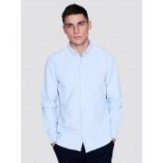 CUBUS Oxfordskjorta med krage och knappslå - Blå