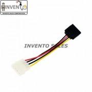 Invento 2 Pcs SATA 15 Pin Male Power to 4 pin Molex Female Convert Connect SATA to Molex Cable