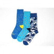 Bombay Sock Multicolor Cotton Printed Ankle Length Socks for Unisex (Pack of 3)