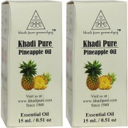 Khadi Pure Herbal Pineapple Essential Oil - 15ml (Set of 2)