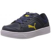 Puma Unisex Skool Jr Ind Blue Sneakers - Boys and Girls - 3-C UK