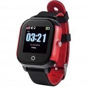 Ceas Inteligent pentru copii WONLEX GW700S Negru cu Rosu, cu GPS, rezistent la apa, localizare WiFI si monitorizare spion