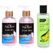 PINK ROOT HAIR SPA SHAMPOO CONDITIONER WITH ASSURE HAIR OIL ARNICA TEA TREE OIL 200ML